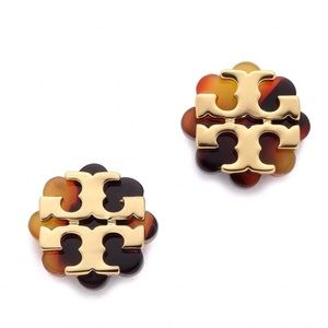 Tory Burch • Flower Resin Tortoise Earrings